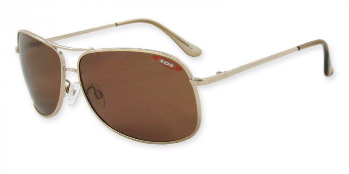 Kona - Gold w/TAC Brown Polarized 1.0MM Lenses