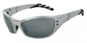 Hurricane - Silver w/PC Decenter Flash Mirror Smoke Lenses