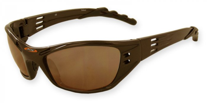Hurricane - Brown w/PC Decenter Flash Mirror Brown Lenses