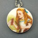 Alice in Wonderland - Drink Me on Wooden Pendant Jewelry