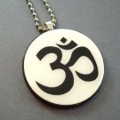 Om on Wooden Pendant Jewelry