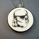 Stormtrooper Star Wars on Wood Pendant  Jewelry  Necklace