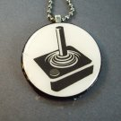 Gamer Joystick on Wood Pendant Jewelry  Necklace