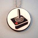 Gamer Joystick Wood Pendant Jewelry  Necklace nintendo atari
