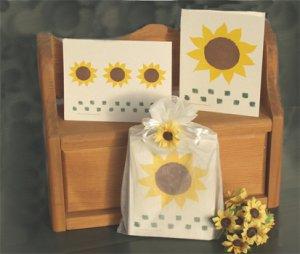 Sunflower Secret Note Card Gift Bag