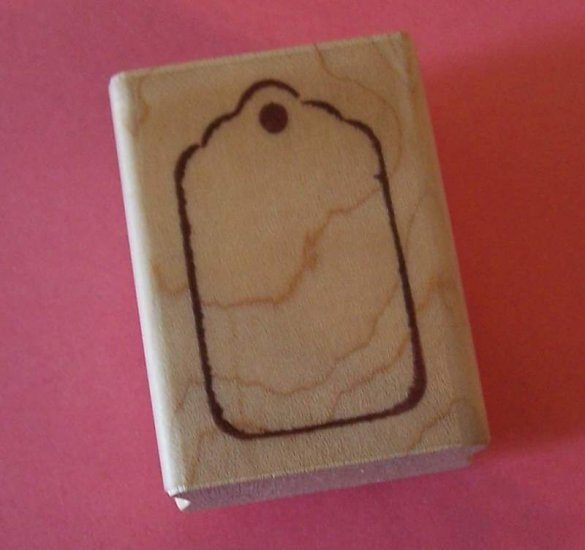 Mounted rubber stamp Tag price tag Image Tree