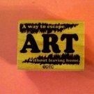 Vintage look ART definition mounted rubber stamp