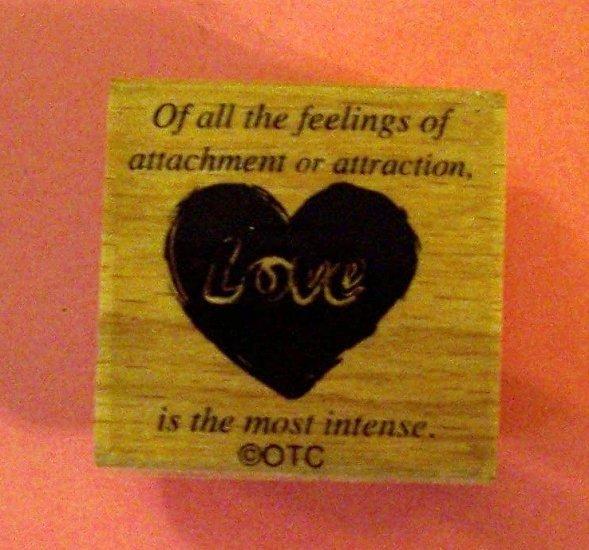 Vintage design LOVE mounted rubber stamp