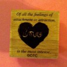 Vintage design LOVE mounted rubber stamp