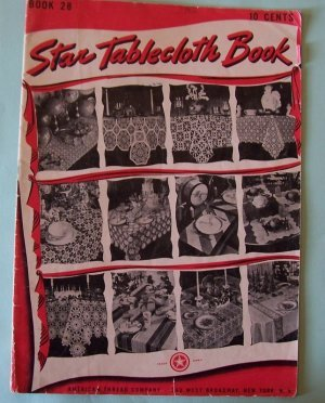 1944 Star Patterns crochet tablecloths and place mats