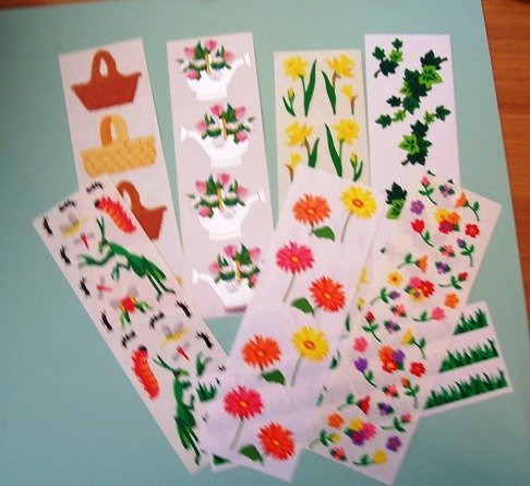 7 sets Creative Memories spring theme stickers