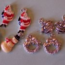 8 Christmas charms for scrapbooks jewelry crafts
