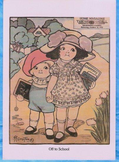 Reproduction 1922 school kids postcard great for scrapbook!