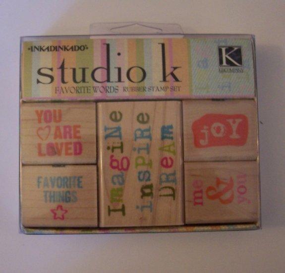 Studio K rubber stamp set Favorite Words MIP