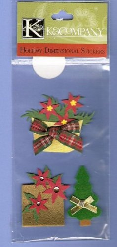 Country look Christmas embellishments for cards gifts scrapbooks MIP