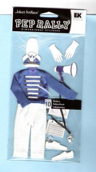 Jolees Drum major cloth sticker set for scrapbook greeting card altered art crafts