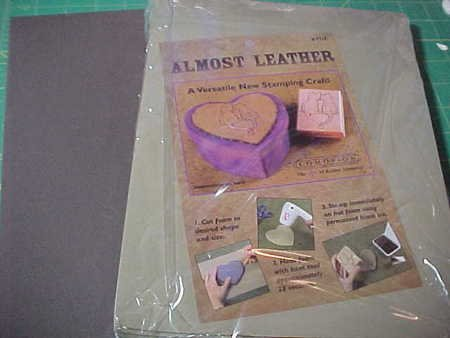 Almost Leather for stamping and embossing