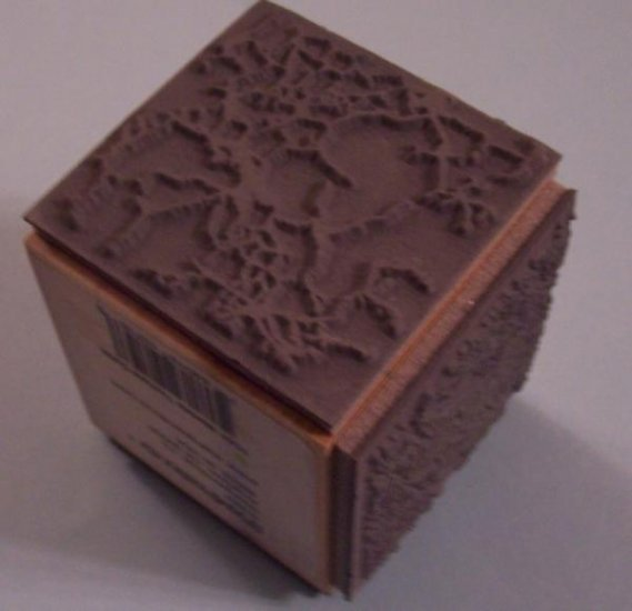 Stampendous 3 step marble background stamp