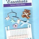 3D baby nursery embellishments stickers for scrapbook greeting card altered art crafts