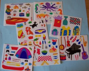Creative Memories stickers-7 sheets assorted for scrapbook greeting card altered art crafts