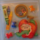 School apple theme shakers stickers for scrapbook greeting card altered art crafts