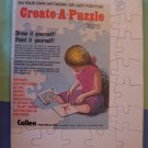 2 Jigsaw puzzle blanks for scrapbooks altered art 8x10 MIP