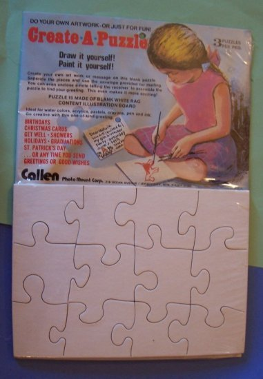 3 Jigsaw puzzle blanks 5x7 for scrapbooks altered art MIP