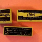 3 mounted rubber stamps Live Love Laugh definitions