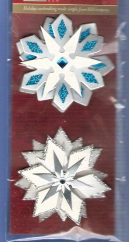 Large 3d snowflakes for Christmas cards or crafts
