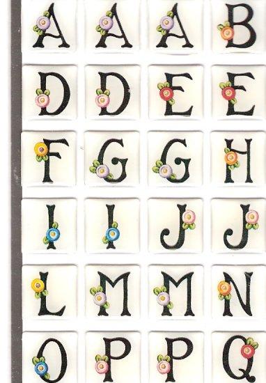 112 Mary Englebreit alphabet bubble stickers