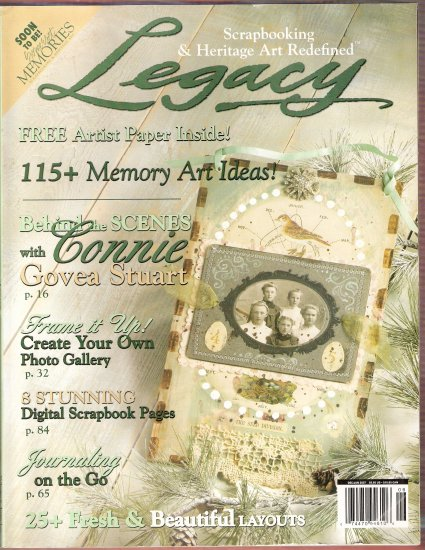 January 2007 Legacy Magazine photos digital scrapbook memory art and more retail 6.95