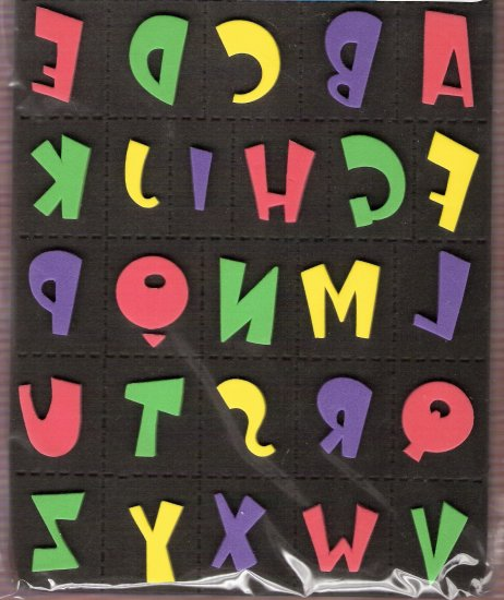 Contemporary alphabet foam stamps MIP