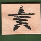 Abstract star large mounted rubber stamp