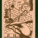 Correspondence collage mounted rubber stamp Hampton Stamps