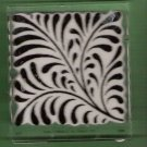 Acrylic mounted rubber stamp fern flourish large Inkadinkadoo