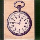 Vintage pocket watch mounted rubber stamp Rubber Stampede