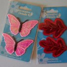 Vintage butterflies and leaves appliques MIP