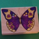 Large detailed butterfly mounted rubber stamp Hero Arts