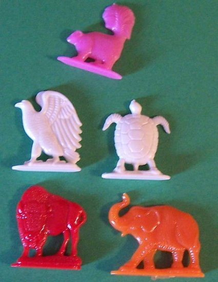 1950s vintage plastic animal toys names on back lot 3