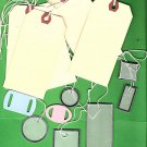 Assorted lot of tags  mailing tags vellum tags chipboard slide tags