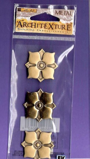Brass floral rosettes brass stamping embellishments Architexture MIP
