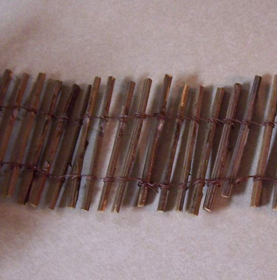 Windbreak fence for dollhouse village or train layouts real wood posts