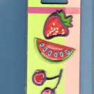 Pink and red fruit appliques MIP Wrights