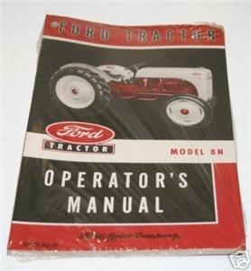 FORD 8N OWNERS OPERATORS MANUAL