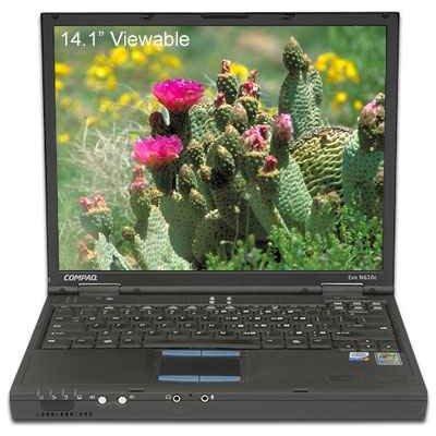 COMPAQ CENTRINO 1400MHZ 512MB 30GB DVD WIFI XP LAPTOP