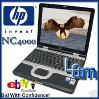 HP ULTRA SLIM NC4000 1400MHZ LAPTOP 512M 40GB WIFI XP