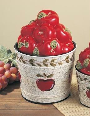 """Apple Cookie Jar - """"Country"""" Bucket"""