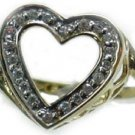 25 tcw Genuine Diamond 14K Gold Heart Ring ( Ladies diamond)