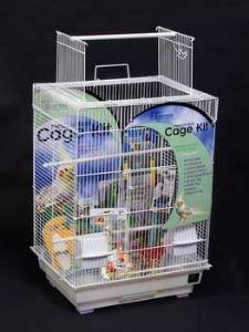Parrot Cage Starter Kit 18x18 White Playtop