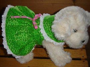 Green Leopard Print Dress